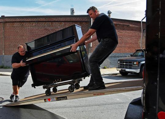 getting piano into the truck