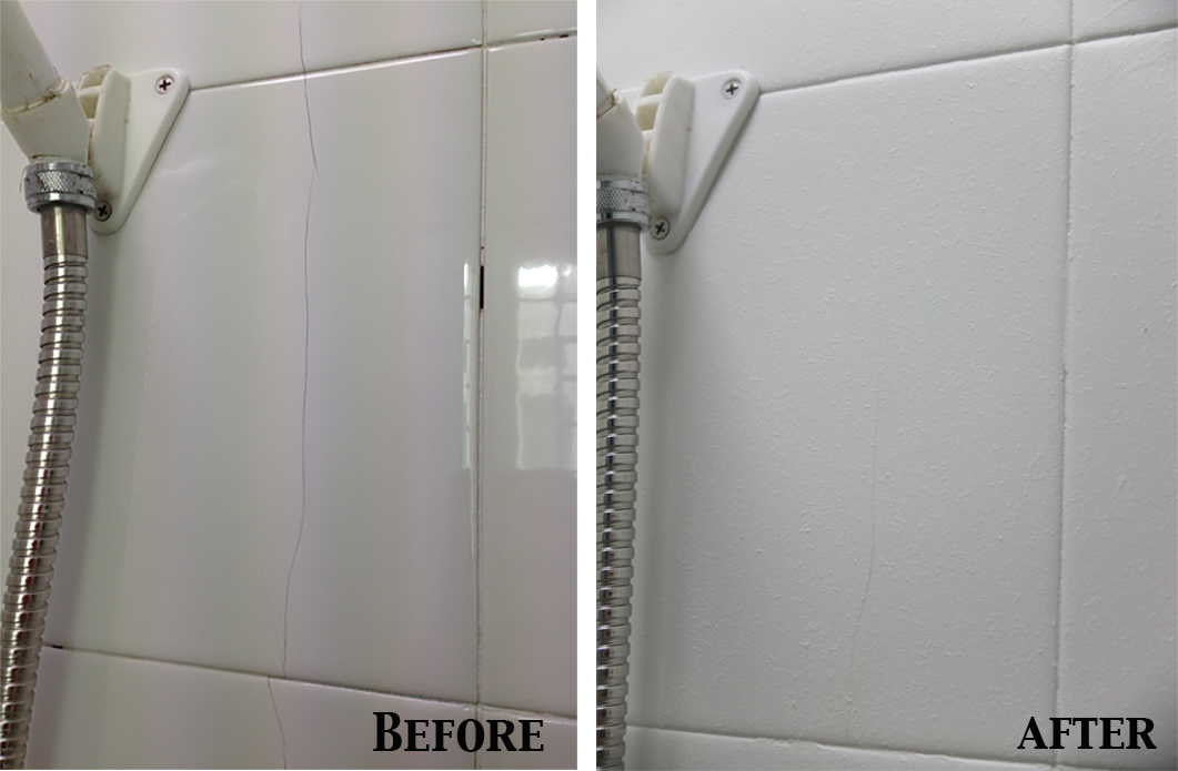 How to replace or repair a cracked tile hirerush blog crack tile before and after ppazfo