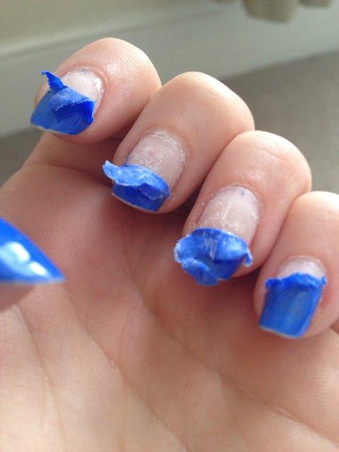 peeled nail polish runied nails