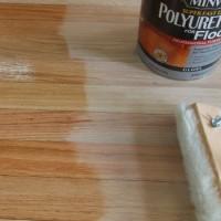 refinishing hardwood floors and applying poly