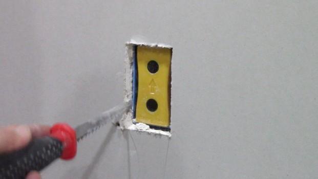 wall hole for a plug