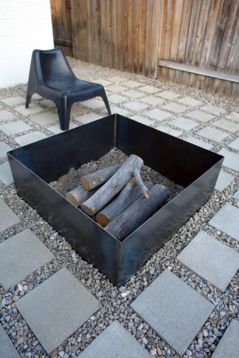diy metal fire pit