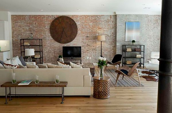 Faux Brick Wall Interior