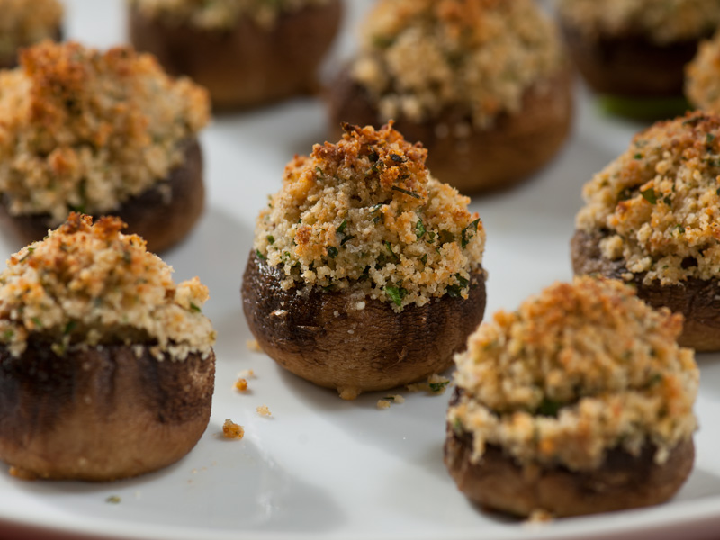 stuffed mushrooms thanksgiving appetizer