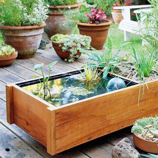 tiny deck pond