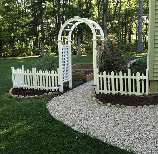 backyard arbor fence