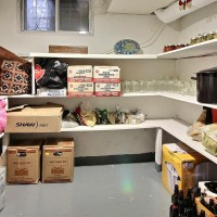 cold storage room with goods