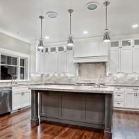 stainless steel kitchen lighting