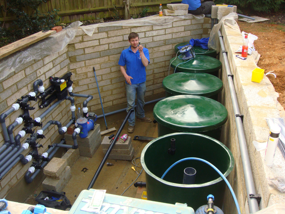 Koi pond maintenance keep your pond live and healthy for Design koi pond filter system