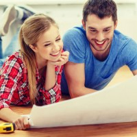 couple planning a home improvement project for a weekend