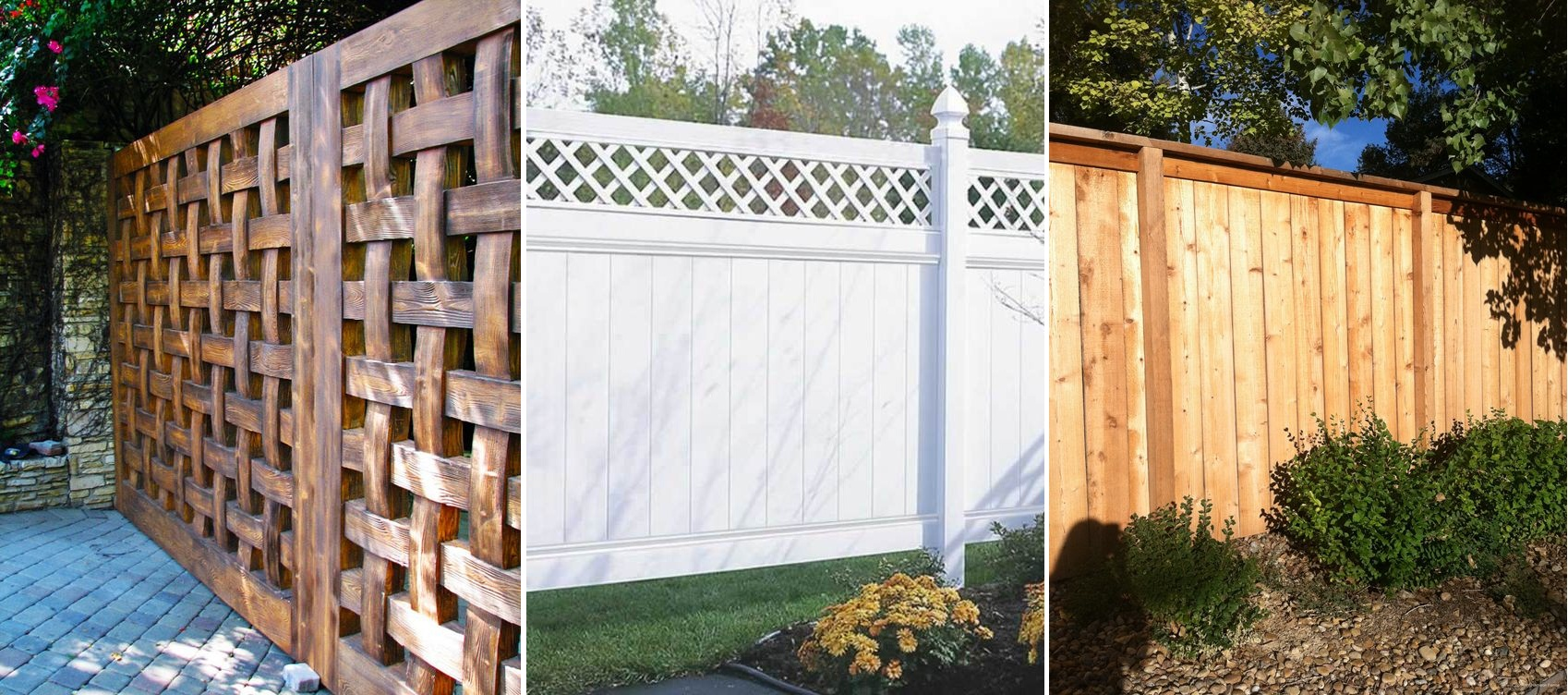Fence types picket fence design using gothic pickets for Types of fences