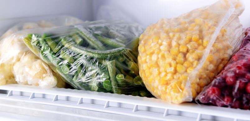 freezing food to eat organic