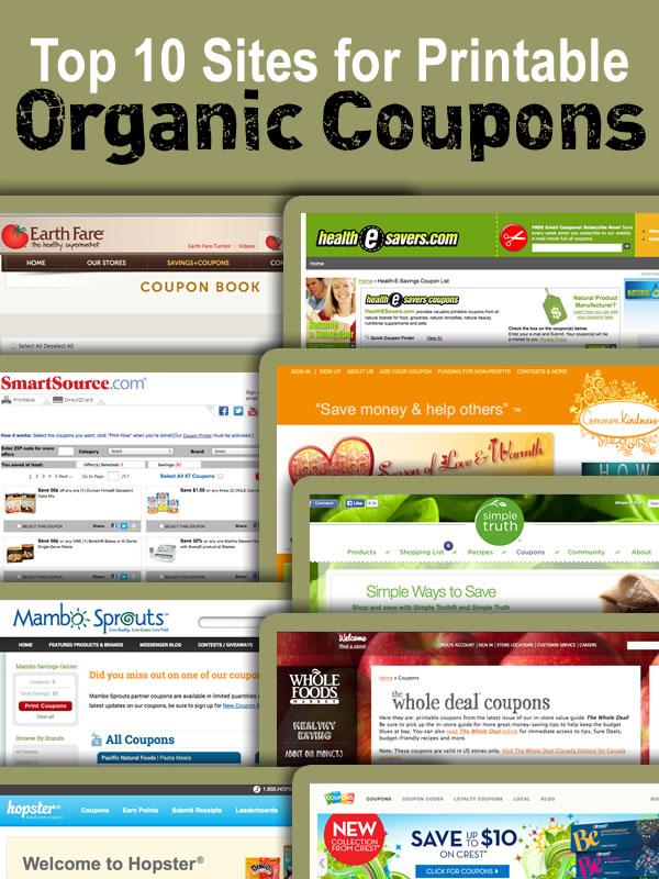 eat organic 10 websites for organic coupons