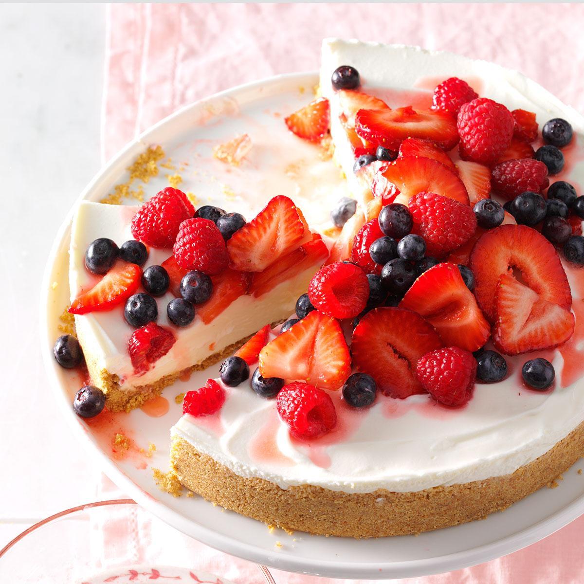 Easter dessert no bake cheesecake