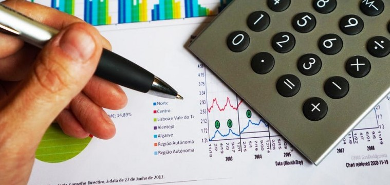 becoming financially independent office calculator and scale