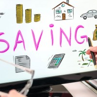Saving concept on a computer monitor save for a car