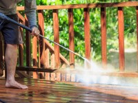Steps to power wash a deck