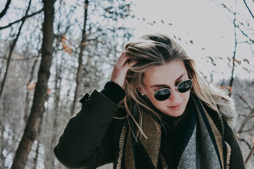 girl warm winter