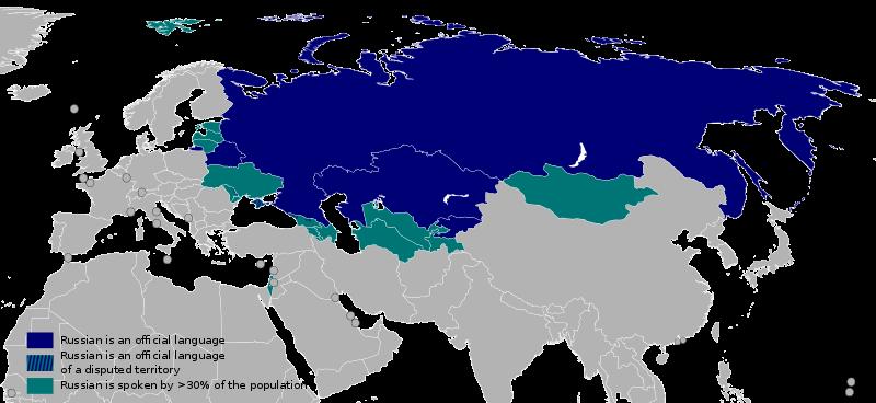 russian is spoken in