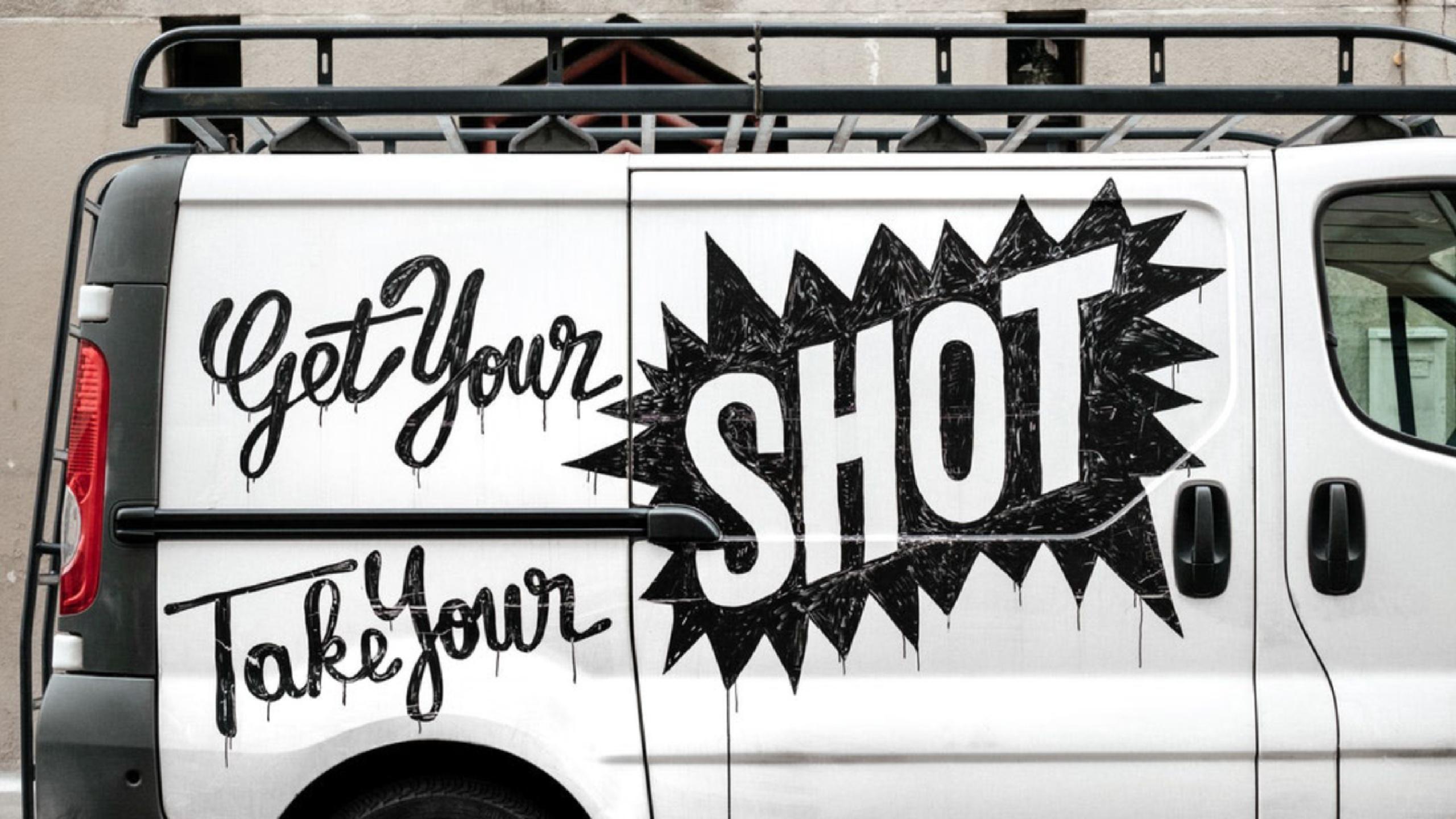 Van with ad