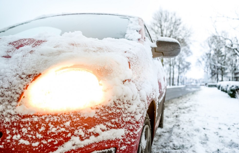 warming up your car in winter