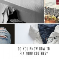 fixing clothes