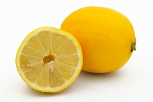 lemon is an ingredient in many homemade cleaning solutions