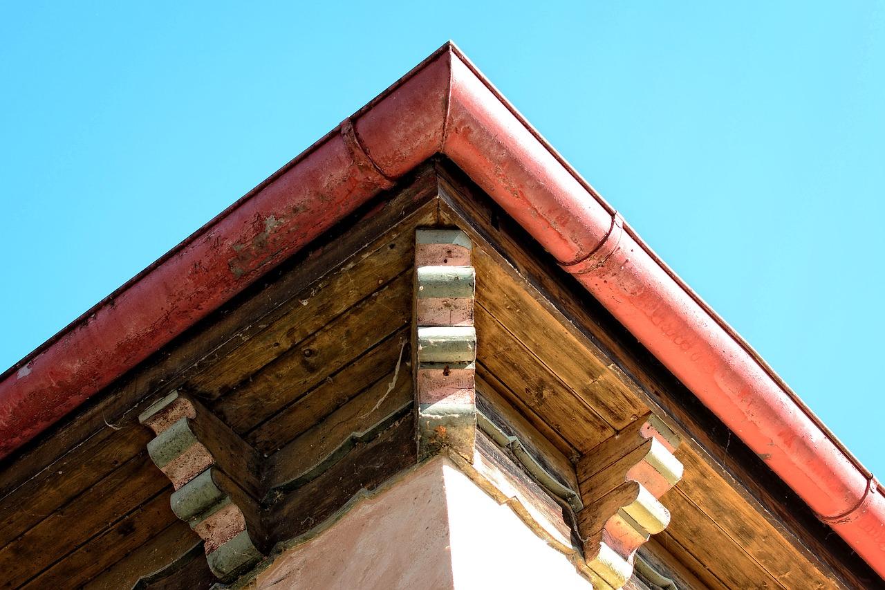 old rain gutters