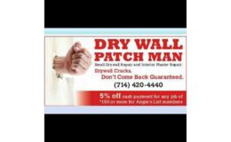 Logo Dry Wall Patch Man