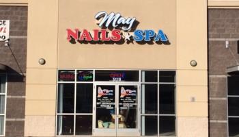 Logo May Nails and Spa Salon