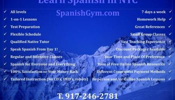 Certified Spanish Tutoring NYC - $60hr.