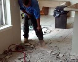 TILE REMOVAL and FLOORING INSTALLATION