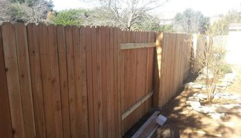 WOOD PRIVACY FENCE REPAIRS AND RE-BLDG, ETC