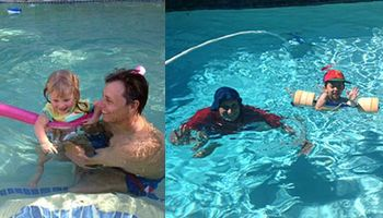 FUN SWIM LESSONS in your swimming pool and lifeguard service