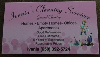 Ivania's cleaning services
