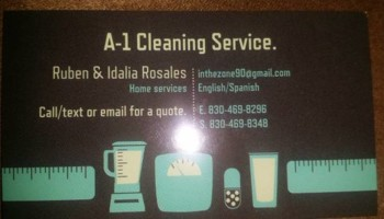A-1 House cleaning services/painting. Ruben Rosales