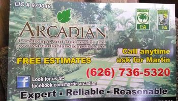 Arcadian Tree Service landscaping and power stump grinding