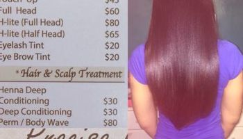 Salon services -Monday -Wednesday special $25 wash and blow