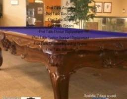 Pool table POOLTABLE MOVE/Refelt any Color