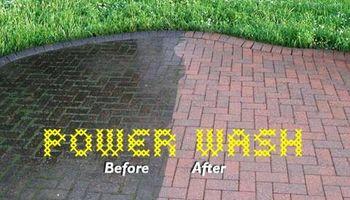 Powerwash Your Driveway, sidewalks, etc.