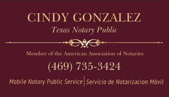 Notary Cindy Gonzalez