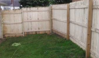 Landscaping, concrete and fencing