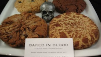 Baked In Blood Black Metal Cookies for your dark or kinky occasions!