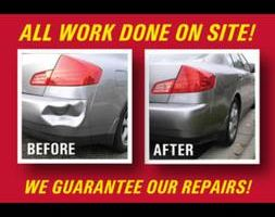 Bumper dent repair and complete paint jobs starting at $ 500