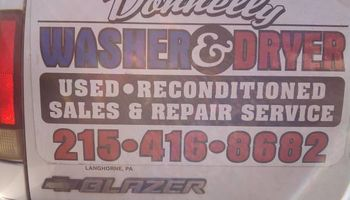 DONNELLY APPLIANCE REPAIR (parts and service warrantied)