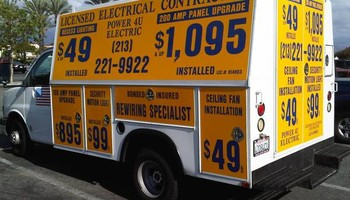 200 Amp Electrical Panel Upgrade $1195 LED Recessed Light $69+