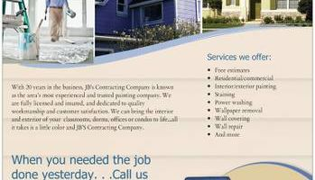 INTERIOR and EXTERIOR PAINTING Available, excellent prices and quality!