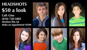 Headshots in Santa Clarita / Burbank - Actor Head Shots - Kids /Adults