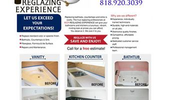 Bathtub, counter tops and sink Refinishing