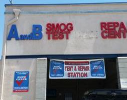 A & B smog test and STAR station certified
